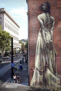 Amazing street art graffiti people Ideas for 2019 3d Street Art, Murals Street Art, Urban Street Art, Amazing Street Art, Street Art Graffiti, Street Artists, Urban Art, Amazing Art, Usa Street