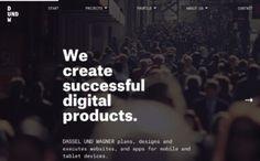 Dassel und Wagner, on siteInspire: a showcase of the best web design inspiration. Best Web Design, Web Design Inspiration, User Interface, Planer, How To Plan, Website, Digital, Designinspiration, Inspire