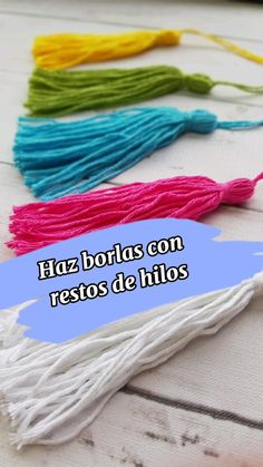 Freeform Crochet, Crochet Yarn, Easy Crochet, Crochet Stitches, Floral Embroidery Patterns, Crochet Patterns, Easy Yarn Crafts, Diy Tassel, Crochet Home