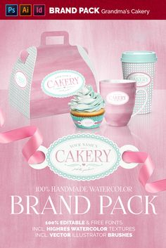 This is a very flexible graphic pack. The main comps are made in Photoshop & one InDesing. As you will see, this is a very versatile pack and you can do a lot Watercolor Branding, Cupcake Photos, Texture Packs, Watercolor Texture, Natural Texture, Paper Texture, Brand You, Coffee Cups, Color Schemes