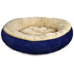 catco Textured Round Cat Bed in Blue * Startling review available here  : Cat Beds and Furniture