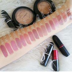 """on Instagram: """"My type of rainbow #thiswasfun #swatches #makeupartist #nudetones #nudelipstick #makeup #MacCosmetics #makeupjunkie #lipstickhoarder #lipstick #makeupaddict #MAC #favourites #maclipstick #macjunkies #makeuplover """""""