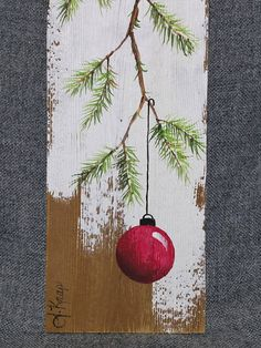 Christmas decor Short pine needle branch Pallet Christmas