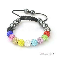 Glamour & Strass  Armband  multicolour  im Organza...