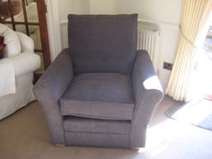 UK made.  A deep and squashy armchair - this is a Kendall arm chair with fitted covers.