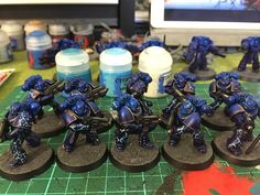 Zombiebees Hobby Hive: Night Lords 30k Painting Fliers WIP Part 1
