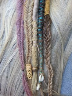12 inch clip in dreadlock hair wrap human hair par Littlemermaidlox