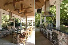 Open air veranda by Neal's Design Remodel.