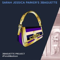 A preview of the Fendi 3Baguette personalized by Sarah Jessica Parker for  the charity auction celebrating the Madison Avenue boutique opening f52eca33be783