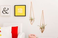 Make these copper plant hangers in just ten minutes.
