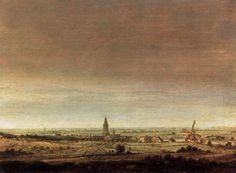 Landscape with City on a River - Hercules Seghers, 1627-1629