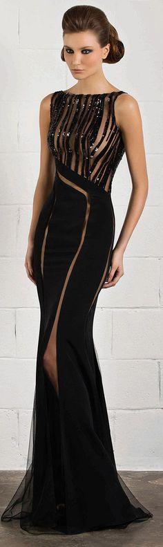 RANI ZAKHEM #black #dress --- WHOA this is gorgeous when you need a long dress!!!