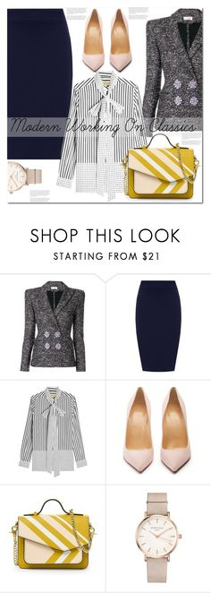 """""""Modern working on classics!!"""" by sweta-gupta ❤ liked on Polyvore featuring Faith Connexion, WearAll, Burberry, Christian Louboutin, ROSEFIELD, modern, polyvoreeditorial and plus size clothing"""