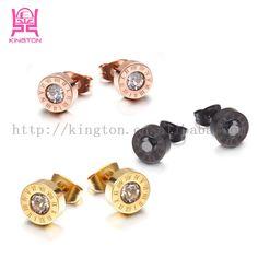 artificial stainless steel stud earrings jewelry earrings