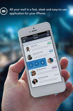 iOS Mail App by Stanislav Kirilov, via Behance