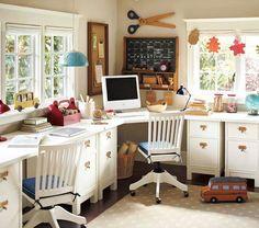 {schoolroom/study area} --pottery barn