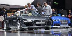 Audi R8 Spyder at 2014 Geneva Motor Show