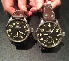 edc1481ae39f  iwcwatches Big Pilot s Heritage Watch 55 and  iwcwatches Big Pilot s  Heritage Watch 48.