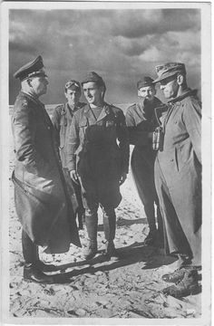 Erwin Rommel with Alfred Gause in North Africa Afrika Corps, Erwin Rommel, Field Marshal, German Uniforms, Panzer, Luftwaffe, North Africa, World War Two, Historical Photos