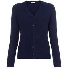 Paul Smith Women's Navy Yak and Wool-Blend Panelled Cardigan ($250) ❤ liked on Polyvore featuring tops, cardigans, navy, navy cardigan, v-neck tops, navy v neck cardigan, navy blue tops und navy tops