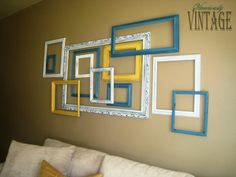 HUGE statement piece for not a lot of dough: 3D Layered Picture Frame Art