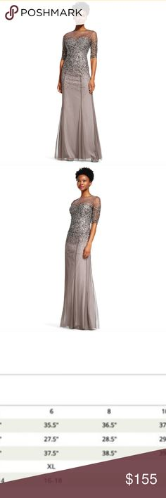 9a608a0bca NWT - Adrianna Papell Illusion Gown SZ 8 Adrianna Papell Illusion Gown Sz 8  See size
