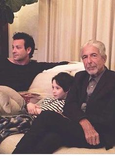 Cohen with son and grandchild