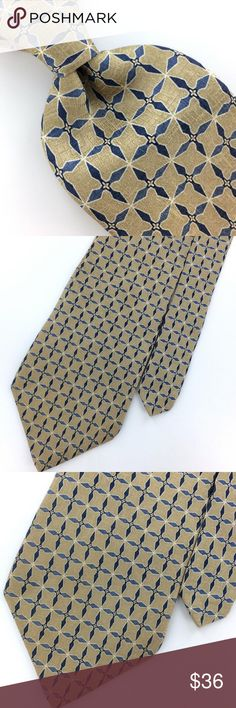 dad53df62a90 FLORAL IVORY NAVY STEEL BLUE Silk Necktie Ties XL 60   PALATINA TIE FLORAL