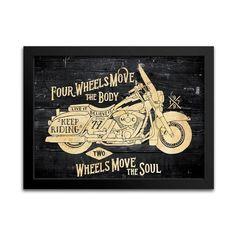 Quadro Harley-Davidson Decoração - Machine Cult | Loja online especializada em camisetas, miniaturas, quadros, placas e decoração temática de carros, motos e bikes