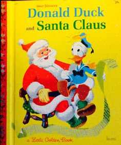 1952 Donald Duck and Sant Claus by Lonestarblondie on Etsy, $8.00