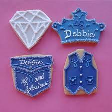denim and diamonds cookies @Landy Barber