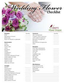 Your Wedding Flower Checklist | Wedding | Pinterest | Wedding ...
