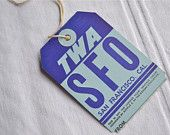 Check out our airline luggage tags selection for the very best in unique or custom, handmade pieces from our luggage tags shops. Domestic Airlines, Major Airlines, Hand Luggage, Do You Remember, Things To Come, San Francisco, Tags, Handmade, California