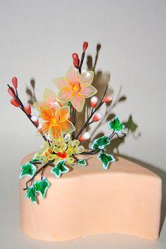 Frühling Torte Gelatine Blumen