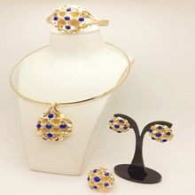 2016 Dubai Gold Plated Jewelry Sets Gorgeous Shining New african beads 18k Gold Plated for women girls wedding Jewelry sets