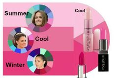 Cool toned Pinks for Cool complexions - Summer, Winter and the Cool color families