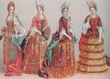 De hoepel jurk/rokken. Het was een mode-evenement vroeger. sommige mensen beschouwen dit als kunst, maar ik vind dit niet mooi. de gedachte achter deze ontwerpen is dat de vrouwen naar perfectie streefde. En dat lieten ze zien met de mooiste stoffen van goud en zilver.  Wat ik er lelijk aan vind is gewoon het hele model, ik snap niet waarom je je zo oncomfortabel zou kleden en waarom al die kleuren bij elkaar zou aantrekken. En het is zo groot etc. daarom vind ik dit geen kunst.