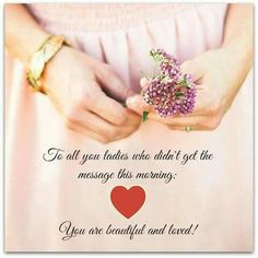 You are Loved♡ You're Beautiful, Flaws, Messages, Engagement Rings, Enagement Rings, Wedding Rings, Diamond Engagement Rings, Text Posts