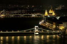 Man Made Budapest  Bridge River Wallpaper