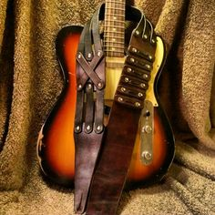 Leonidas guitar strap from B & L Leather Company