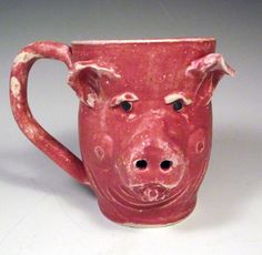 Gallery For > Ceramic Animal Mugs