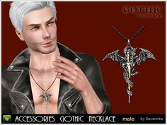 Male accessory in the Gothic style - pendant 'Mordred'. Pendant in the form Sword Betrayal in power of the dragon Custodian. Found in TSR Category 'Sims 3 Necklaces' Sims 3, Sims 4 Cas Mods, Bday Gifts For Him, Free Sims, Sims 4 Mods Clothes, Sims 4 Cc Finds, Men Necklace, Gothic Fashion, Pendant
