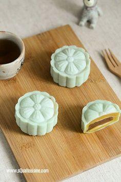 栗子黑糖麻糬冰皮月餅 Mochi Chestnut Snow Skin Moon Cake