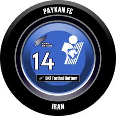 DNZ Football Buttons: Paykan FC                                                                                                                                                                                 Mais