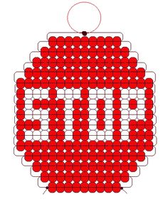Stop sign pony beads pattern