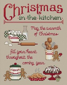 Christmas in the kitchen This would be a great sign painted on a cookie tray,a cookie jar, or a recipe book