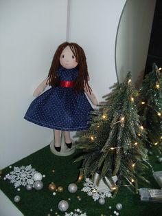my doll Lena . Christmas Tree, Christmas Ornaments, Dolls, Holiday Decor, Handmade, Teal Christmas Tree, Baby Dolls, Hand Made, Christmas Jewelry