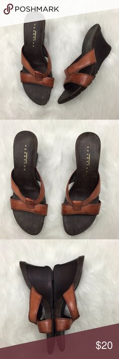 🌺Kenneth Cole Reaction Burnt Orange Wedge Sandals This has been gently worn with no major flaws.  Please refer to photos for more details. Kenneth Cole Reaction Shoes Sandals