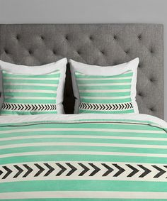 This Mint Stripes & Arrows Duvet Cover by DENY Designs is perfect! #zulilyfinds
