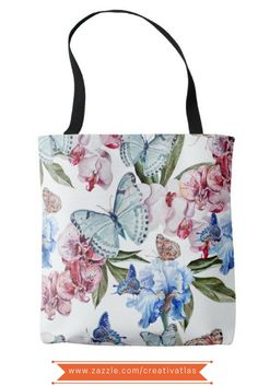 Flowers and Butterflies floral all over print Tote Bag| | Gifts for her | Gifts for mom | Stylish tote bags | floral tote bags | Typography quotes inspirational |   Tote bag gift | Gifts for chefs | Tote bags for work | Tote bag inspiration | Tote bag illustration | Tote bag art | bags and totes | bags for her | graphic tote | cute tote bags | Tote bag gift ideas | shopping tote bag | Tote bags for sale | Printed tote bag